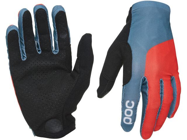 POC Essential Mesh Gloves cubane blue/prismane red